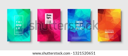 Triangle polygonal abstract background. Colorful gradient design. Low poly shape banner. Vector illustration. #1321520651