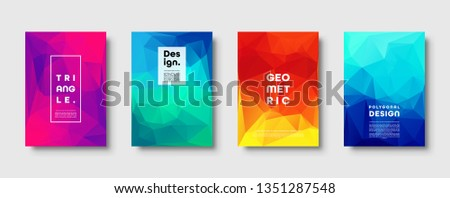 Triangle polygonal abstract background. Colorful gradient design. Low poly shape banner. Vector illustration.