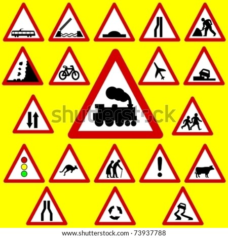 Triangle Road Signs