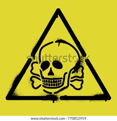triangle  skull and crossbones