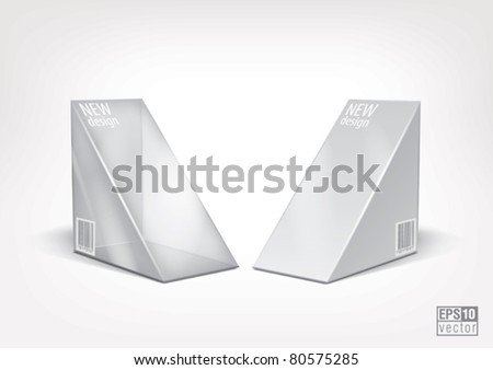 Triangle  white and transparent  package, for new design. Eps10 vector