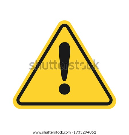Triangle yellow caution sign icon