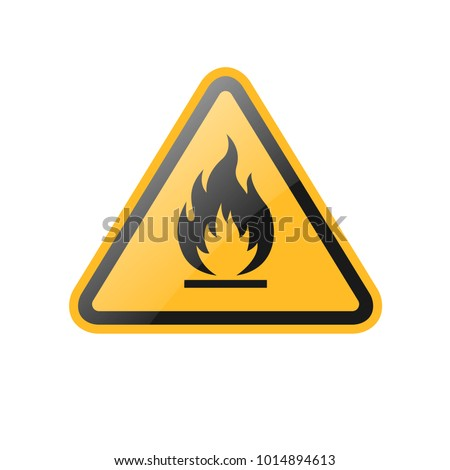 triangle yellow fire warning