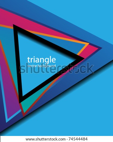 triangles abstract cover
