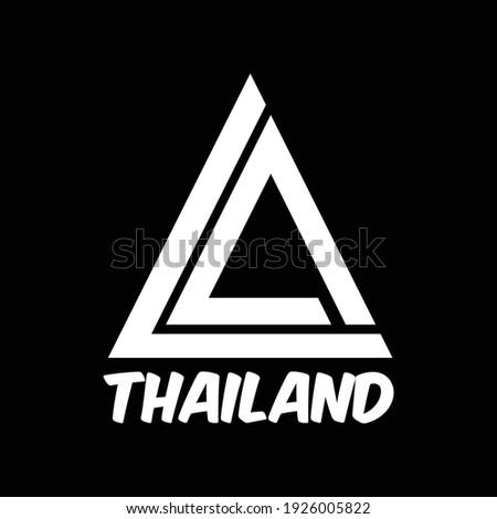 Triangles LA Thaliand White Black Stok fotoğraf ©