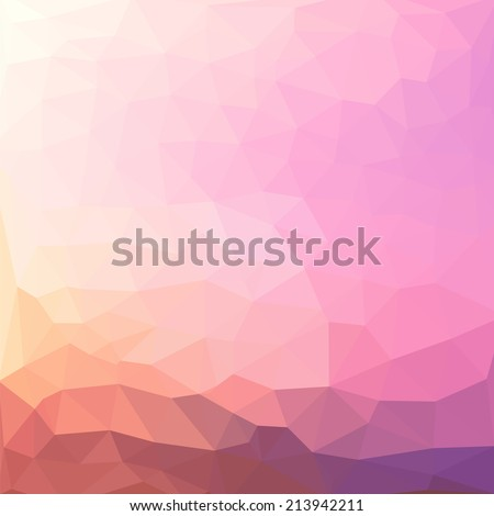 Triangles pattern of geometric shapes. Colorful mosaic backdrop. Geometric vintage in gentle romantic palette background, place your text on the top of it. Retro triangle background. Backdrop
