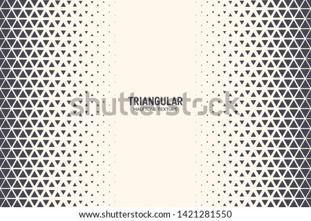 Triangles Vector Abstract Geometric Technology Background. Halftone Triangular Retro Style Simple Pattern. Minimal Style Dynamic Tech Wallpaper