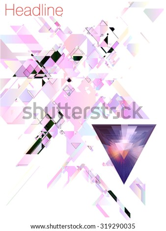 triangular colored background