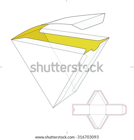 Royalty free stock photos and images triangular fast food box with triangular fast food box with die line template maxwellsz