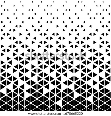 Triangular geometric pattern. Black white triangle background .
