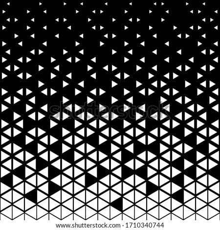 Triangular geometric pattern. Black white triangle background .