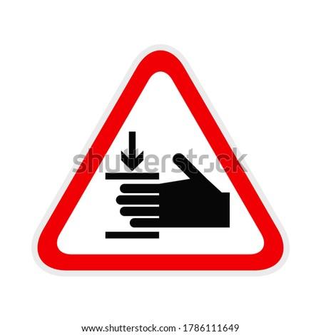 Triangular red Warning Hazard Symbol, vector illustration Foto stock ©
