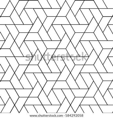 triangular vector grid, Modern stylish trellis templates