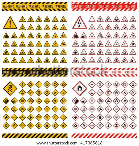triangular warning hazard