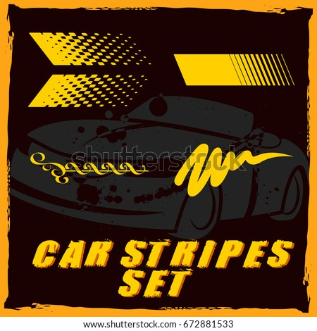 Tribal and cool Car stripe set top print on vinyl and adhesive on venicle