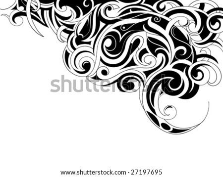 tribal art animals. stock vector : Tribal art