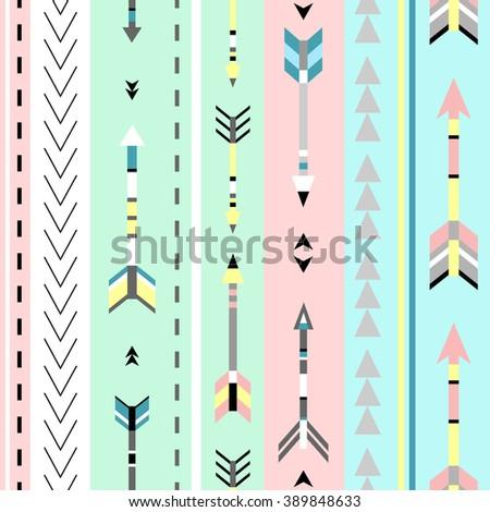 Tribal art boho seamless pattern. Ethnic geometric print. Background texture. Fabric, cloth design, wallpaper, wrapping