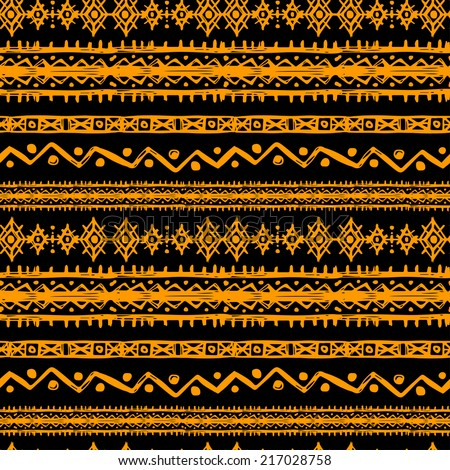 Tribal art ethnic seamless pattern Folk abstract geometric repeating background texture Fabric design Wallpaper