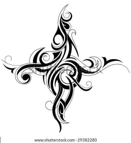 Tattoo Tribal Art. Tribal art tattoo design