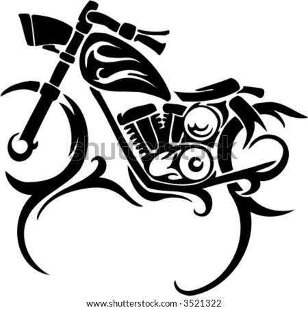 Tribal Bike Templates. Vector Illustration. - stock vector