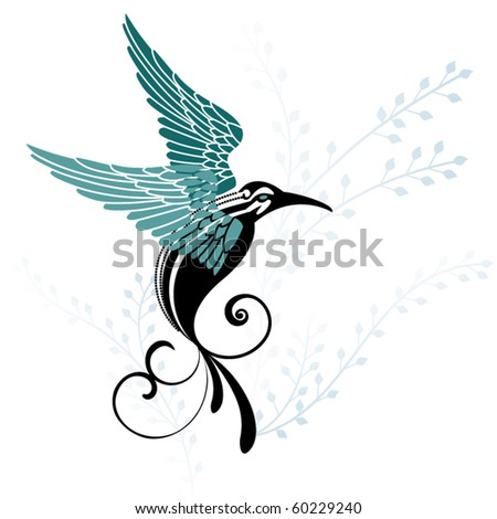 tribal bird in flight