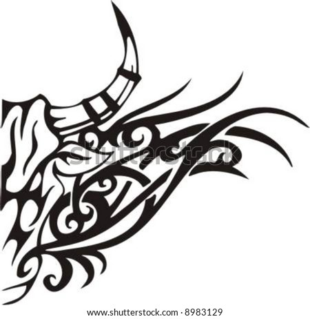 Tribal Bull - vector clip art, high quality Flame and Tribal Designs ...