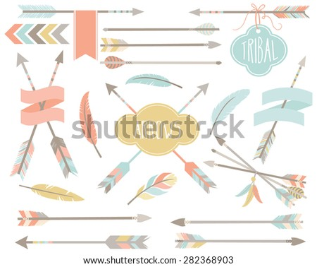 Tribal Clip art - American indian elements