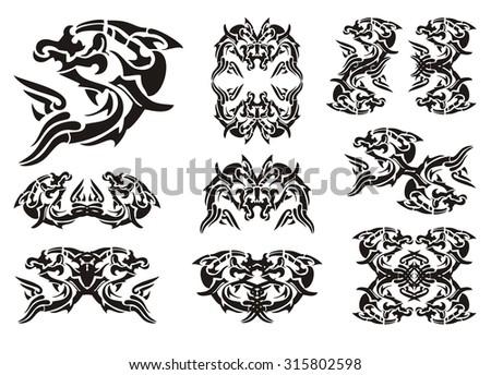 Tribal Dolphin Symbols Ez Canvas