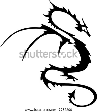 stock vector Tribal dragon