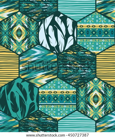 stock-vector-tribal-ethnic-seamless-pattern-with-geometric-elements-vector-background