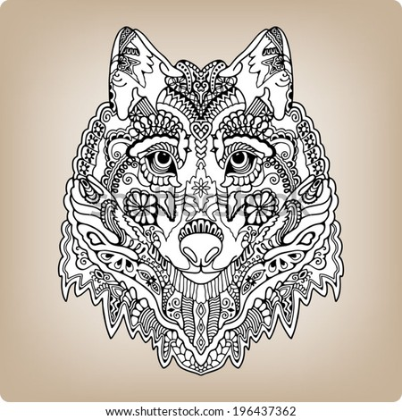 tribal ethnic wolf totem