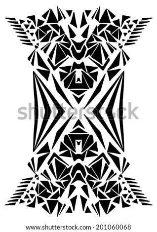 tribal geometric print