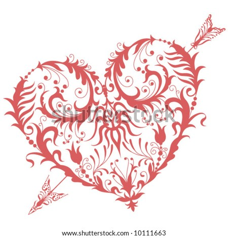 stock vector Tribal Heart Design
