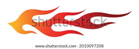 Tribal hot rod flame motorcycle and car decal graphic. Ideal for car decal, sticker and even tattoos
