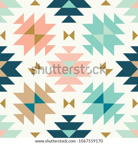 tribal kilim toss vector seamless repeat pattern, multi color background
