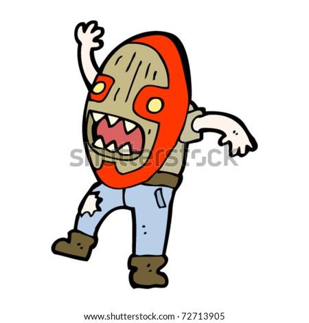 stock vector tribal mask cartoon