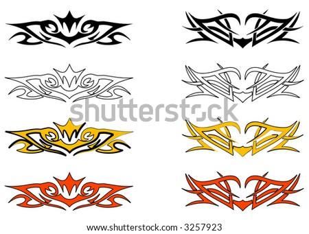 tribal tattoos design_12. tribal tattoos design_12. stock vector : Tribal Ornament Design 12