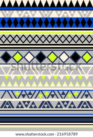 tribal pattern in fresh color