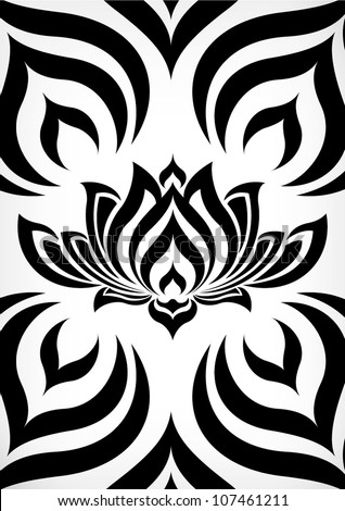 tribal pattern lotus