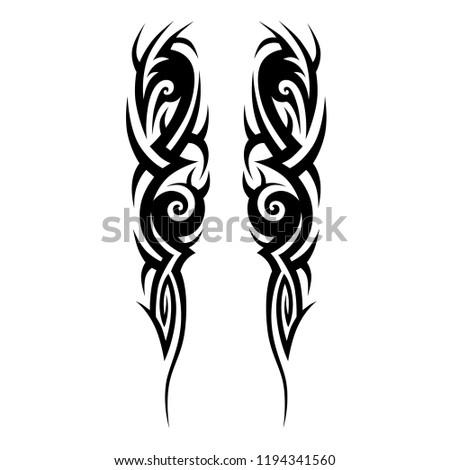 tribal pattern tattoo art tribal swirl designs, vector pattern illustration on white background