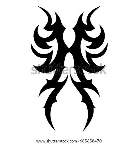 tribal pattern tattoo vector art design, isolated illustration abstract pattern on white background, tattoos ideas designs – tribal tattoo pattern vector illustration