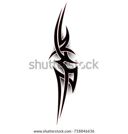 tribal pattern tattoo vector art design, isolated illustration abstract pattern on white background, tattoo celtic art tribal vector design.