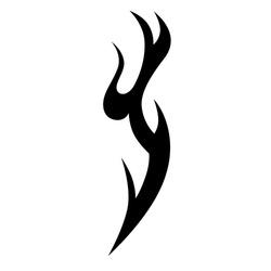tribal pattern vector tattoo art design, isolated illustration abstract pattern on white background, tattoos art designs tribal vector. Simple logo.