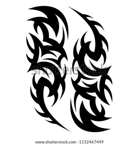 tribal pattern vector tattoo art design, isolated illustration abstract pattern on white background, tattoos art thorns designs – tribal tattoo pattern vector illustration