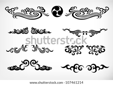 tribal Patterns  Japan calligraphy