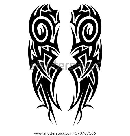 tribal polynesian pattern tattoo art deco  design vector pattern sleeve arm man - design flame - maori sleeve