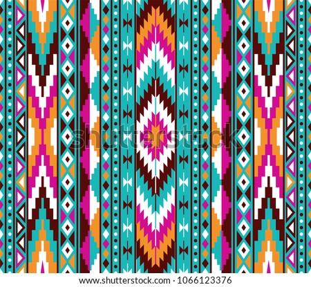 tribal seamless colorful