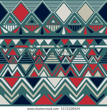 Tribal seamless pattern. African aztec abstract geometric art print. ethnic navajo vector background. Illustration for fashion textile print. Wallpaper, cloth design, fabric, paper, and cover.