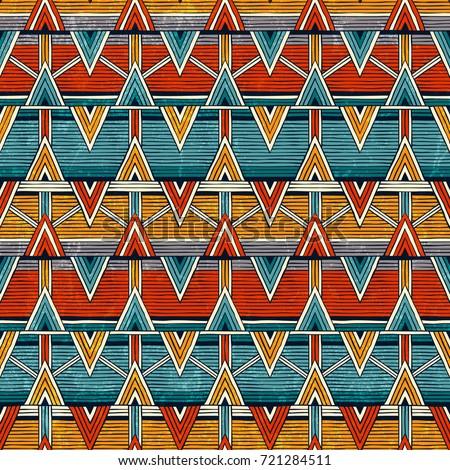 tribal seamless pattern in...