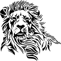 Tribal Skull and Lion